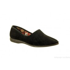 Great British Slippers - Audrey in Black
