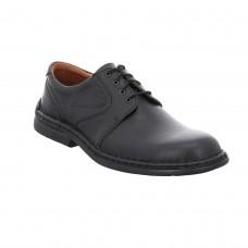 Josef Seibel Mens Lace Shoe in Black - Walt
