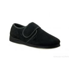 Padders Mens Velcro Slipper - Harry in Black