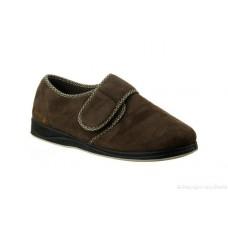 Padders Mens Velcro Slipper - Harry in Brown