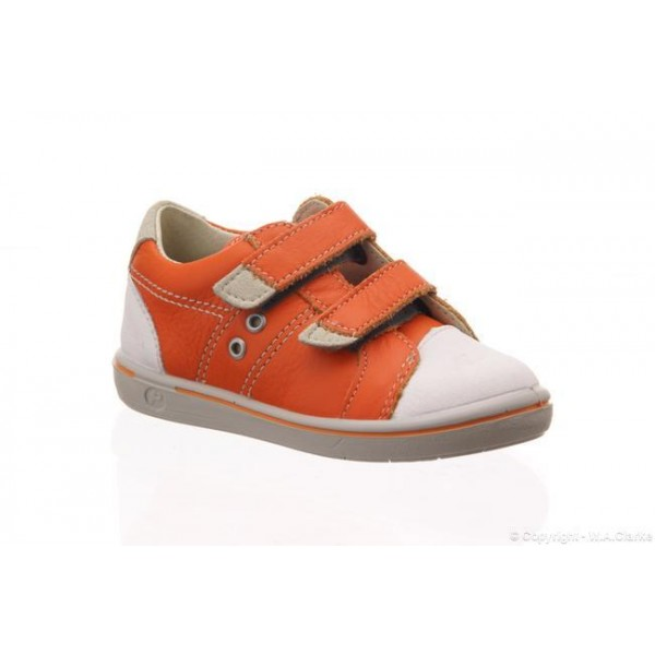 Ricosta Boys Shoe - Nippy in Orange/White