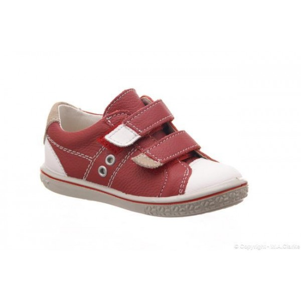 Ricosta Boys Shoe - Nippy in Red/White