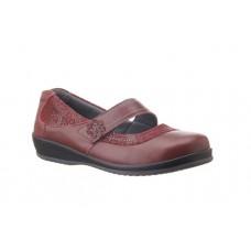 Sandpiper Extra Wide Velcro Shoe - Falmer in Cherry - 4E to 6E Fitting