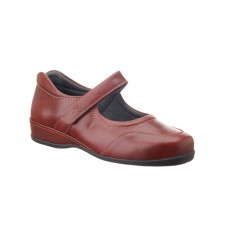 Sandpiper Extra Wide Velcro Shoe - Welton in Red - 4E to 6E Fitting